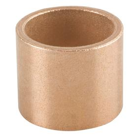 Sleeve Bearing: Inch, SAE 841 Material Grade, Bronze, For 3/4 in Shaft Dia, 1 in Overall Lg, 1 in OD, CTG-1001-K23, 3 PK