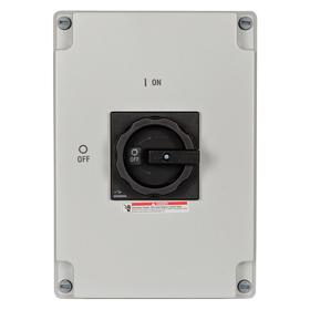 Safety Switch: Three Phase, 3 Poles, Polycarbonate, 100 HP At 600V AC Output Power - Three Phase, Heavy, 65 IP Rating