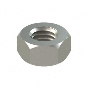 Hex Nut: 18-8 Stainless Steel, M5 Thread Size, 0.8 mm Thread Pitch, 8 mm Wd, 4 mm Ht, 50 PK
