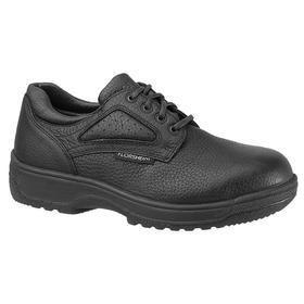 Static-Dissipative Work Shoe: D Shoe Wd, 10 Men's Size, Men, Composite, Leather, Black, Better Mfr Suggested Sole Slip Rating, 1 PR
