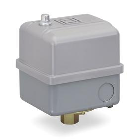 Schneider Electric Air & Water Pressure Switch with Adjustable Differential: 60 psi Factory Pressure Setting - On, Std, Air/Fresh Water, Std Body