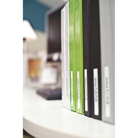 Desktop Printer Label: For DYMO LabelWriter 450 Turbo, File Folders, Paper, White, 3 7/16 in Label Ht, 9/16 in Label Wd