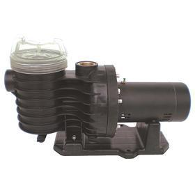 Centrifugal Pool Pump: 1 1/2 hp Input Horsepower, Continuous Motor Duty Class, Thermoplastic, 1 Phase, 115V /230V AC, Closed