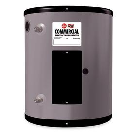 Rheem Electric Water Heater: 19.9 gal Tank Capacity, 25 1/8 in Ht, 19 3/4 in Wd, 1 Elements, 1 Phase, 277V AC, 6 kW Power