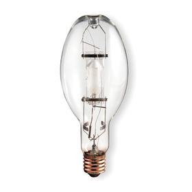 GE Elliptical HID Bulb: Metal Halide, Clear, ED37, E39, 400 W Watt, 43000 lm, 65 Color Rendering Index, ANSI Code M59