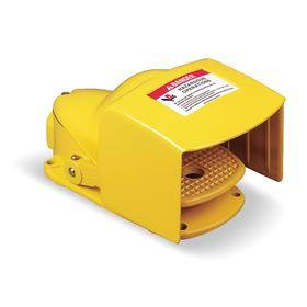 Schneider Electric Foot Switch: Metal, Without Guard, SPST Pole-Throw Configuration, Maintained, 8.56 in Overall Lg