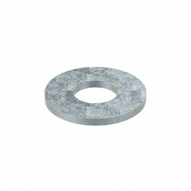 USS Flat Washer: Steel, Zinc Plated, Low Carbon Material Grade, For 3/8 in Screw Size, 0.438 in ID, 1 in OD, 100 PK