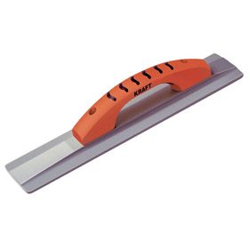 Concrete Hand Float: 16 in Blade Lg, 3 1/4 in Blade Wd, Magnesium, Squared, Rubber