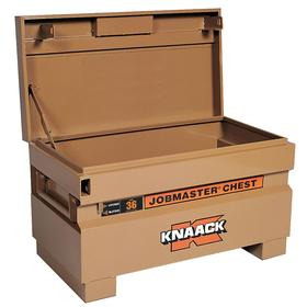 Knaack Jobsite Storage Box: 21 1/2 in Overall Ht, 19 in Overall Wd, 36 in Overall Dp, 7 cu ft Storage Capacity, Steel