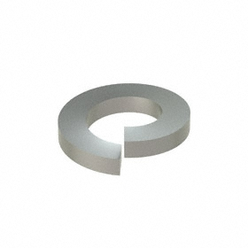 Split Lock Washer: 18-8 Stainless Steel, For No. 10 Screw Size, 0.193 in ID, 0.334 in OD, 0.047 in Thickness, 50 PK