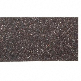 Recycled Rubber Sheet: 1/8 in Thickness, 36 in x 36 in Size (W x L), 60A Shore Hardness