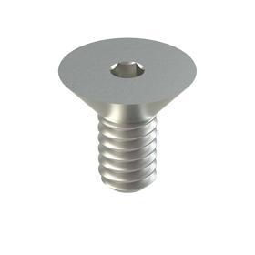 Flat Head Socket Cap Screw: 18-8 Stainless Steel, 2-56 Thread Size, 1/8 in Shank Lg, Fully Threaded, 100 PK