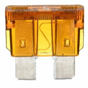 Bussmann ATC Automotive Fuse: 5 A Current Rating, 32V DC, 1kA at 32V DC Interrupt Rating, Fast Acting, Tan Color, 5 PK