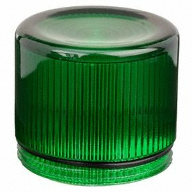 Eaton Push Button Cap: 30 mm Compatible Panel Cutout Dia, Plastic, 38.1 mm Overall Ht, Green, Illuminated, Screw On