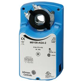 Johnson Controls Non-Spring Return Electric Actuator: 70 in-lb Torque, Floating & On/Off, 25 to 50 sec Time Delay