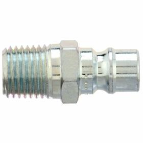 Parker Hannifin Quick-Disconnect Plug: Snap-Tite H Compatible, 3/8 in Coupling Size, Steel, Buna-N, 3/8 Pipe Size, NPT