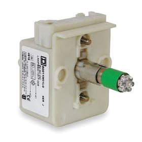 Schneider Electric Lamp Module with Bulb: Green, For 24 V AC/24 V DC, Full Volt, Includes Bulb