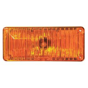 Ecco Exterior Vehicle Warning Light: Rectangle, Amber, 7 in Overall Lg, 2 in Overall Ht, 24.0 V DC Volt, 0.40 A Current