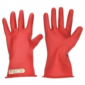 Ansell Marigold Electrical-Insulating Glove: ASTM D120/ASTM D120-09/NFPA 70E/OSHA 1910.137/OSHA 1910.268, Red, 12 Size, 1 PR