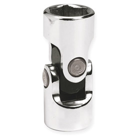 Stanley Proto Flex-Joint Socket: Imperial, 3/8 in Drive Size, 6 Points, 1/2 in Socket Size, 1 3/4 in Overall Lg, Chrome
