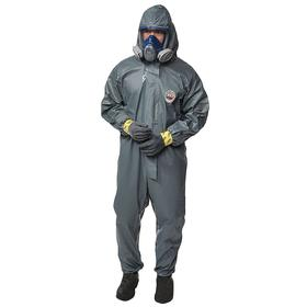 Lakeland High Visibility Collared Coverall: Pyrolon CRFR, Gray, Zipper, 0 Pockets, Unisex, 2XL Size, Flame-Resistant
