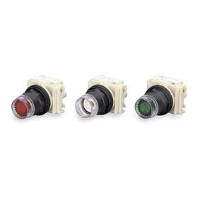 Schneider Electric Push Button Operator: Full Guard Operator, Illuminated, Momentary, Red, Plastic, Pressure Plate