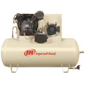 Ingersoll Rand Air Compressor: Three Phase, 2 Stages, 200V AC, Splash Lubricated, 10 hp Horsepower, 35.0 cfm Full Load Air Consumption