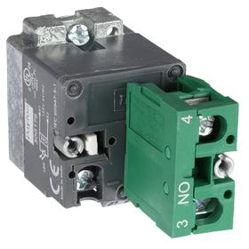Lamp Module & Contact Block: For Chrome Operators, 1.57 in Overall Lg, White, 2 Haz Material Indicator, LED, (1) Contact Block, Includes Bulb