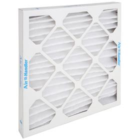 Pleated Air Filter: 8 MERV, Framed, 16 x 16 x 2 Nominal Filter Size, Synthetic/Polyester, 5 mil Filter Thickness, Cold Glue, White, 12 PK