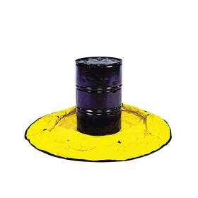 Quick Deployment Containment Pool: Polyethylene, 100 gal Spill Capacity, 53 in OD, 12 in Ht, Yellow