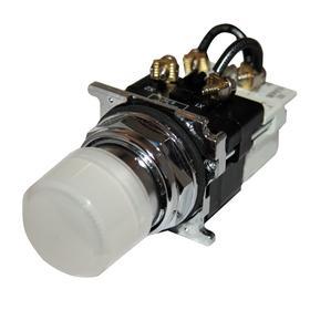 Eaton Pilot Light: 120V AC/DC, 2.03 in Overall Lg, Resistor, White, For 120 V AC, Includes Bulb, For Incandescent, Black