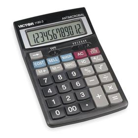 Financial Calculator: 3 Key, 12 Display Digits, 6 1/2 in Lg, 4 1/4 in Wd, 1 in Dp, Solar/Battery Power Source