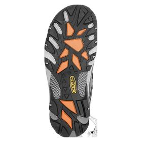 Keen Hiker-Style Work Boot: Men, Steel, Leather, Gray, Gen Use, Electrical Hazard Rated, Good Mfr Suggested Sole Slip Rating, Wide Toe Cap, 1 PR