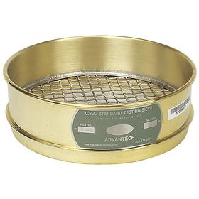 Sieve: For Coarse Particle Size, Brass Frame & Stainless Steel Screen, 8 in Frame ID, Full Sieve Ht, 2 in Overall Ht