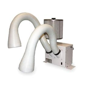 Benchtop Fume Extractor: 2 Inlets, 350 cfm Max Air Flow, 120V, 10 in Overall Ht, 12 in Overall Wd, 7 in Overall Dp