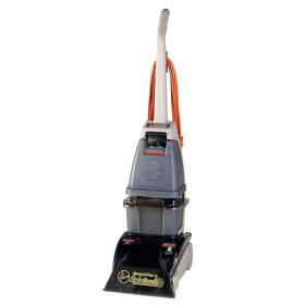 Hoover Carpet Extractor: Black, Spin Scrub Brushes/Stain Guard, 50 Haz Material Indicator, OSHA/UL Listed