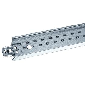Cross Tee for Ceiling Tile Suspension: 36 lb/ft Max Load Capacity per Foot, Galvanized, Steel, 24 in Overall Lg, White