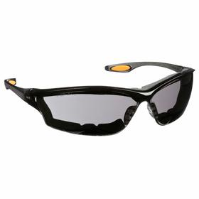 MCR Safety Glasses: Gray, Frameless Frame, Anti-Fog, Smoke, ANSI Z87+, Nylon, Hand Wash/Lens Towelettes, Dielectric