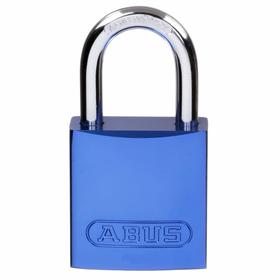 Coated Aluminum Lockout Padlock: Keyed Alike, Blue, Master Keyed, 1 1/2 in Body Ht, 1 1/2 in Body Wd, 12 PK