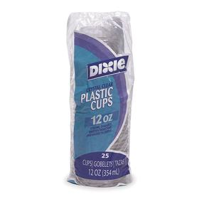 Disposable Cup: Bare, Cold Cup, Unwrapped, 12 fl oz Cup Capacity, Plastic, 500 PK