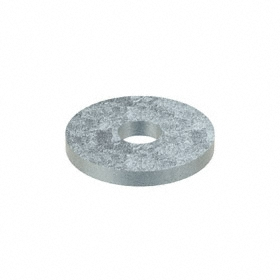 Oversized Flat Washer: Steel, Zinc Plated, Low Carbon Material Grade, For No. 8 Screw Size, 0.188 in ID, 50 PK