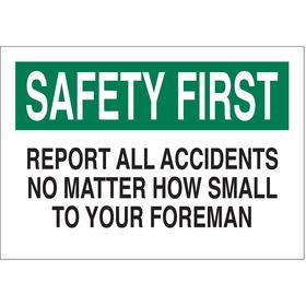 Brady Emergency Contact Sign: 7 in Overall Ht, 10 in Overall Wd, Polyester, Self-Adhesive, English, White