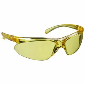 Honeywell Safety Glasses: Amber, Wraparound Frame, Scratch Resistant, ANSI Z87.1-2010/CSA Z94.3-2007, Polycarbonate
