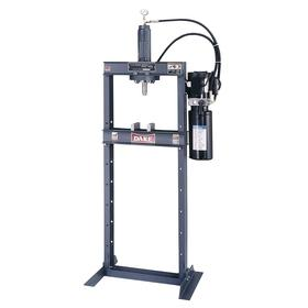 Hydraulic Press: Electric-Hydraulic, Painted, Steel, Dark Gray, H Frame, Double Action, 10 ton Frame Capacity (Pressure)