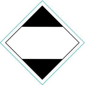 DOT Hazardous Material Label: [Blank], 4 1/2 in Label Ht, 4 1/2 in Label Wd, Paper, 500 PK