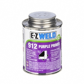 Primer: 8 fl oz Size, Can, CPVC/PVC, Purple, 32° F Min Op Temp, 110° F Max Op Temp