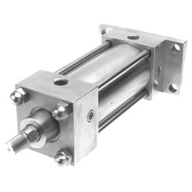NFPA Tie-Rod Air Cylinder: Adj Cushion, Female, 3/8 in Air Inlet Size, Aluminum Alloy