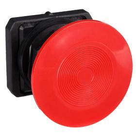 Emergency Stop Push Button Operator: Non-Illuminated, Mushroom Operator, Momentary, Red, 60 mm Operator Dia, Black