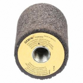 """Norton Grinding Plug with Square Tip: Type 18 Type, 5/8""""-11 Thread Size, 3 in Head Lg, 2 in Max Dia, Aluminum Oxide"""
