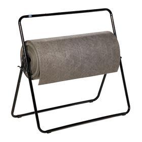 Adjustable Roll Dispenser: Dispenser Frame, 35 in Lg, Steel, Black, Painted, For Pig Mat Rolls, Reusable